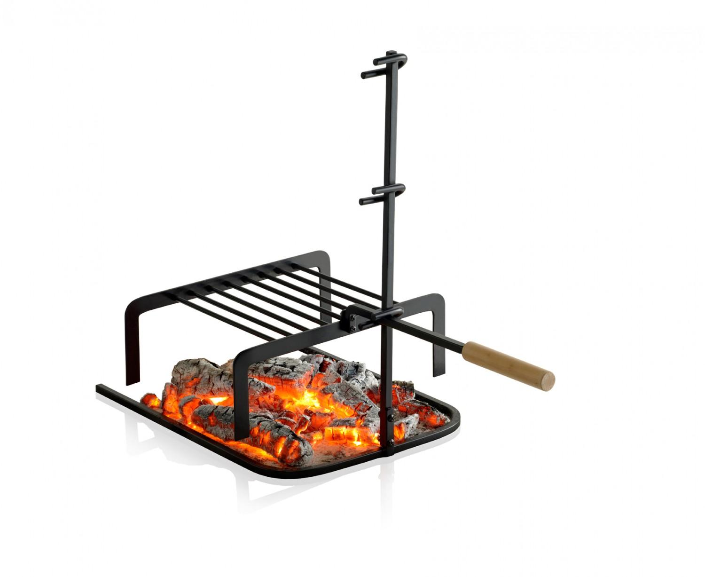 barbecook kamin grillrost h henverstellbar wandergrill. Black Bedroom Furniture Sets. Home Design Ideas
